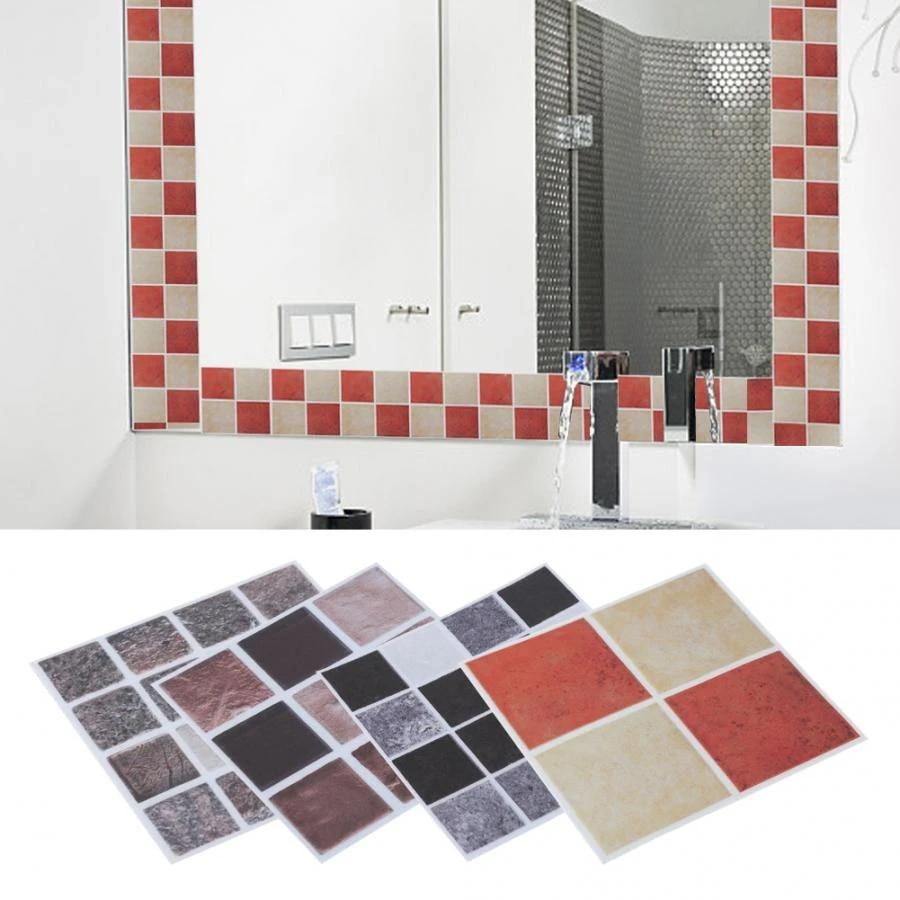 18pcs 10cm 10cm Mosaic Tile Transfer Stickers Bathroom Kitchen Bedroom Festival Party Decoration Diy Art Mural Parlor Decoration Wall Stickers Aliexpress