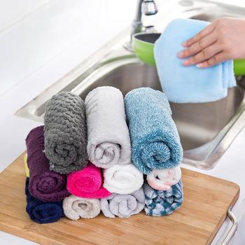 Microfiber Cleaning Towel Wipe Cloth Kitchen Dishwashing Towel Anti-oil Car Washing Cloth Absorbent Dish Rug Cleaning Tool image