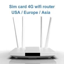 LC112 4G 라우터 wifi SIM 카드 핫스팟 4G CPE 안테나 32 사용자 RJ45 WAN LAN 무선 모뎀 LTE dongle