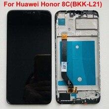 Frame + Originele 6.26 Lcd Voor Huawei Honor 8C Lcd Touch Screen Digitizer Vergadering Voor Honor Paly 8C BKK AL10 BKK L21 Lcd
