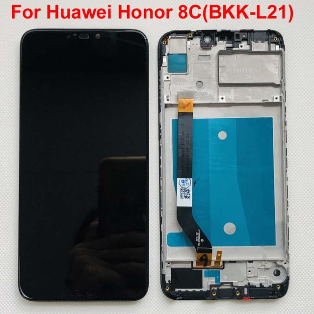 Telaio + Originale 6.26 LCD Per Huawei Honor 8C Display LCD Touch Screen Digitizer Assembly Per Honor Paly 8C BKK AL10 BKK L21 LCD