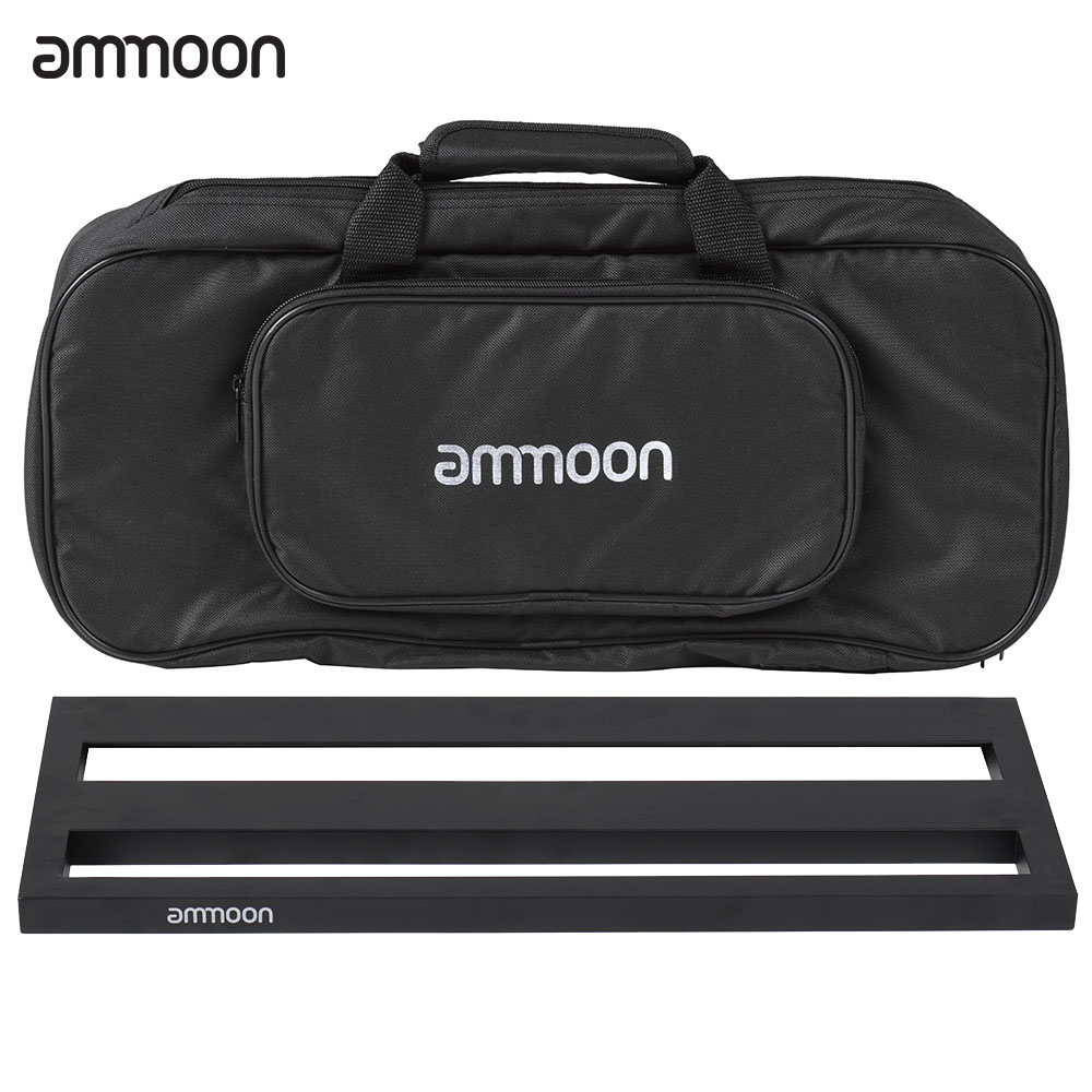 Image 2 - ammoon DB 2 Portable Guitar Pedal Board Aluminum Alloy with Carrying Bag Tapes Straps guitar accessories guitar pedal bag-in Guitar Parts & Accessories from Sports & Entertainment