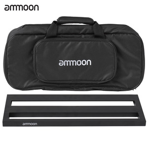 Image 2 - ammoon DB 2 Portable Guitar Pedal Board Aluminum Alloy with Carrying Bag Tapes Straps guitar accessories guitar pedal bag