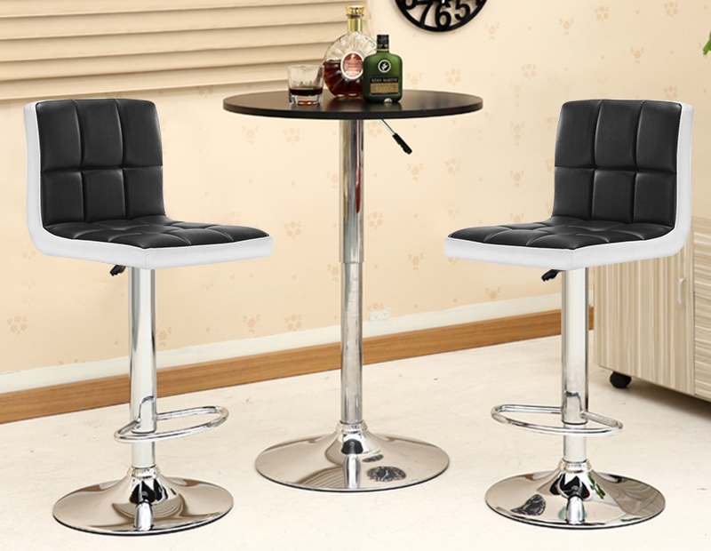2PC Soft PU Leather Bar Chair Adjustable Lift Bar Chair Modern Minimalist Bar High Stool Home Bar Stool Bar Chair High Chair HWC