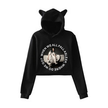 Sovalro Character Printed Women Causal Sweatshirts Winter Hooded Cat Ear Long Sleeves Femme Tops Sexy Feminino Cropped Pullovers(China)