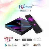 Decodificador de señal H96 MAX Dispositivo de TV inteligente, 10,0 reproductor multimedia con Android, Youtube, 2/4G + 16/32/64 GB de RAM, cuatro núcleos, 1080p, 4K, USB 3,0