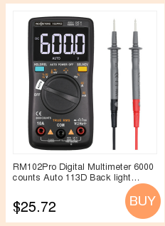 Hb7fe69fcaca3453ca8a3e45bf95a77edj RICHMETERS RM113D NCV Digital Multimeter 6000 counts Auto Ranging AC/DC voltage meter Flash light Back light Large Screen 113A/D