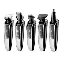 7in1 lavável aparador de cabelo elétrico barba trimer tosquiadeira de cabelo barbeador barba barba shaper bigode máquina de corte de cabelo