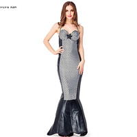 Silver and black Sexy Female Halloween Mermaid tail Costume Women Mermaid Cosplay Carnival Purim Nightclub Role play party dress