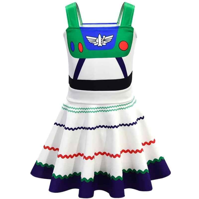 少年少女アニメトイストーリー 4 コスプレ衣装子供の漫画パーカー女の子バズ · ライトイヤードレスハロウィン衣装
