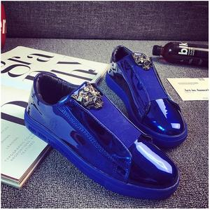 2020 New European Men Sneakers Sexy Gold Hair Stylist Male Platform Canvas Shoes Outdoor Casual Homme Leather Zapatillas Hombre