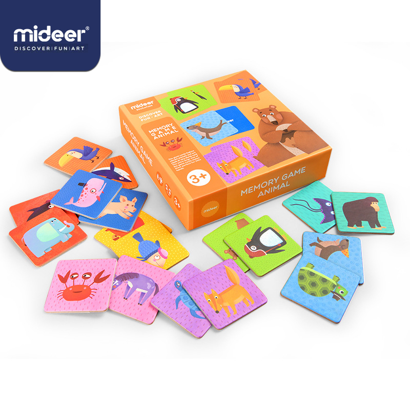 MiDeer Memory Card Toys 3-6 Years Animal Matching Card 36PCS Paper Puzzle Card Parent-child Interaction Toy