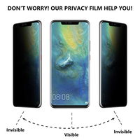 screen film liquid 10 PCS UV Liquid Full Glue Privacy Tempered Glass For Huawei Mate 20 Pro Mate 30 Pro P30 Pro Anti-peeping Screen Protector film (2)
