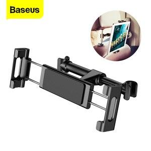 Image 1 - Baseus Car Back Seat Headrest Mount Holder For iPhone X Samsung iPad 360 Degree Bracket Car Backseat Tablet Mobile Phone Holder