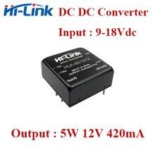 Envío gratis 2 unids/lote 9 18V entrada a 5W 12V 420mA dc a dc módulo convertidor para protección de circuito 5D1212