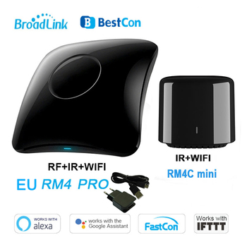 2020 Broadlink Bestcon RM4 Pro RM4C Mini uniwersalny inteligentny pilot inteligentny dom WiFi + IR + przełącznik RF praca z alexa tanie i dobre opinie RM4 for RM4c mini