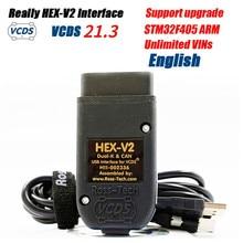 2021 realmente hex-v2 vag com 20.4 vagcom 20.4.2 vcds hex v2 interface usb para vw audi skoda assento ilimitado vins holandês/inglês