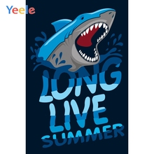 Yeele Summer Party Photocall Holiday Shark Swimming Photography Backdrops Personalized Photographic Backgrounds For Photo Studio