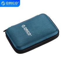 ORICO-caja de disco duro portátil de 2,5 pulgadas, funda para disco duro portátil externo, estuche de caja de almacenamiento, protección, color negro/rojo/azul