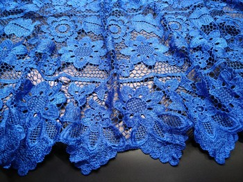 2019 African Lace fabric Hot Sell Mesh lace New Royal Blue african cord Lace guipure Nigeria lace Fabrics High Quality M15531