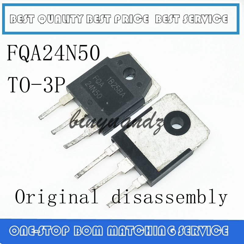 10PCS-100PCS FQA24N50F FQA24N50 24N50 24A 500V TO-3P Original Disassembly