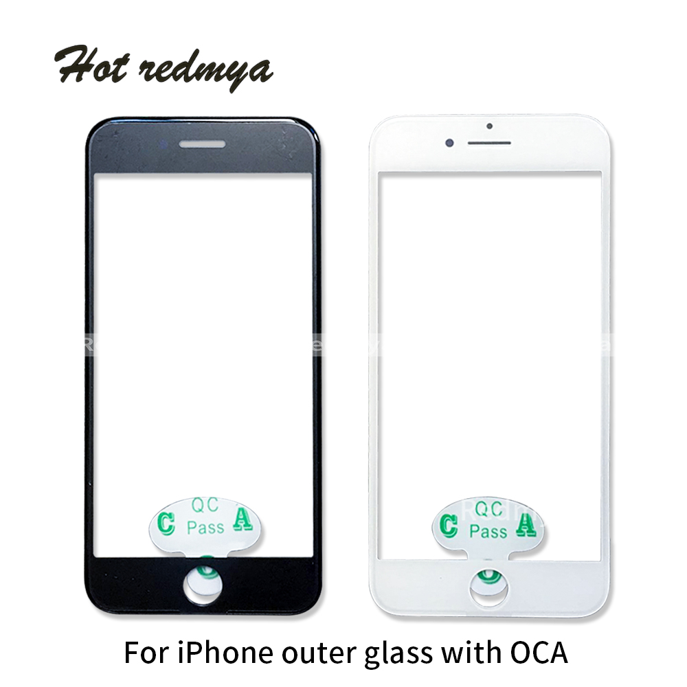 10pcs Outer Glass With OCA For iPhone 6 6S 7 7 Plus LCD Front Touch Screen Glass Frame Panel Digitizer Replacement Parts image