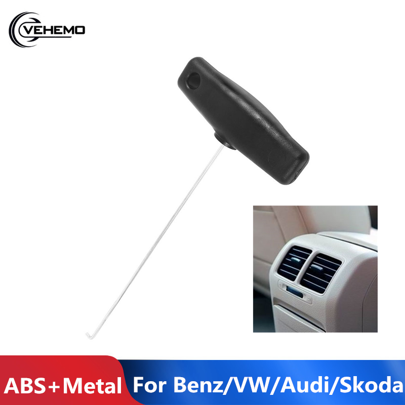 VEHEMO 18cm Air Outlet Remover Small Gauges Air Outlet Pulling Hook For Instrument Clusters For Mercedes-Benz Audi Skoda