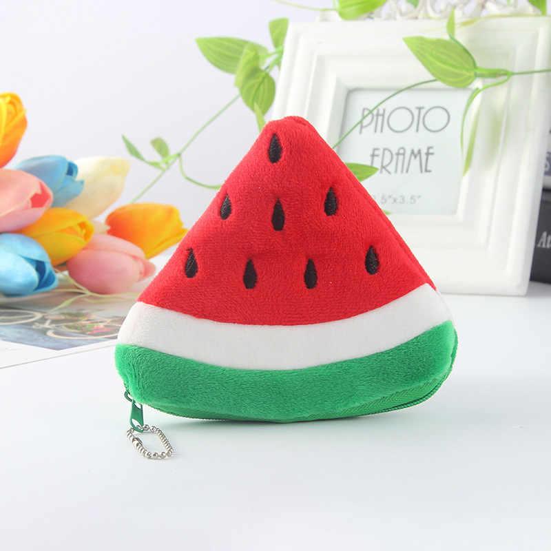 فاكهة البطيخ Kawaii الكرتون الأطفال أفخم محفظة البريدي تغيير المحافظ عملة حقيبة محفظة الاطفال فتاة النساء للهدايا 2020