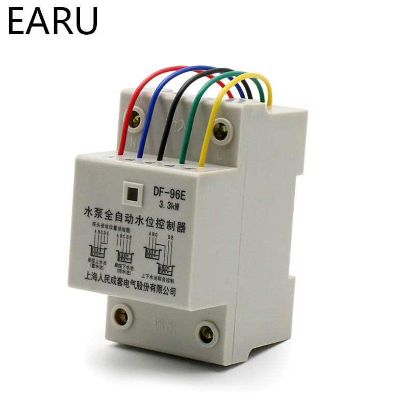 Image 3 - DF 96ED Automatic Water Level Controller Switch 10A 220V Water Tank Liquid Level Detection Sensor Water Pump Controller-in Flow Sensors from Tools