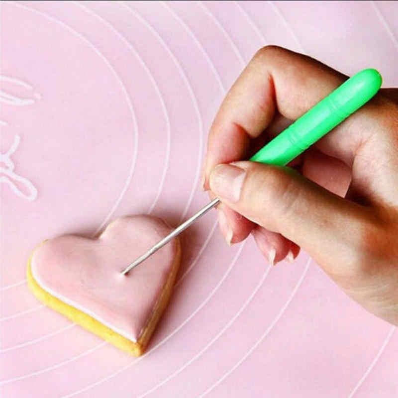 Sugarcraft ciasto kremówka Cookie dekorowanie rzeźba znakowanie wzory Scriber Bubble Pricker narzędzie do modelowania igły