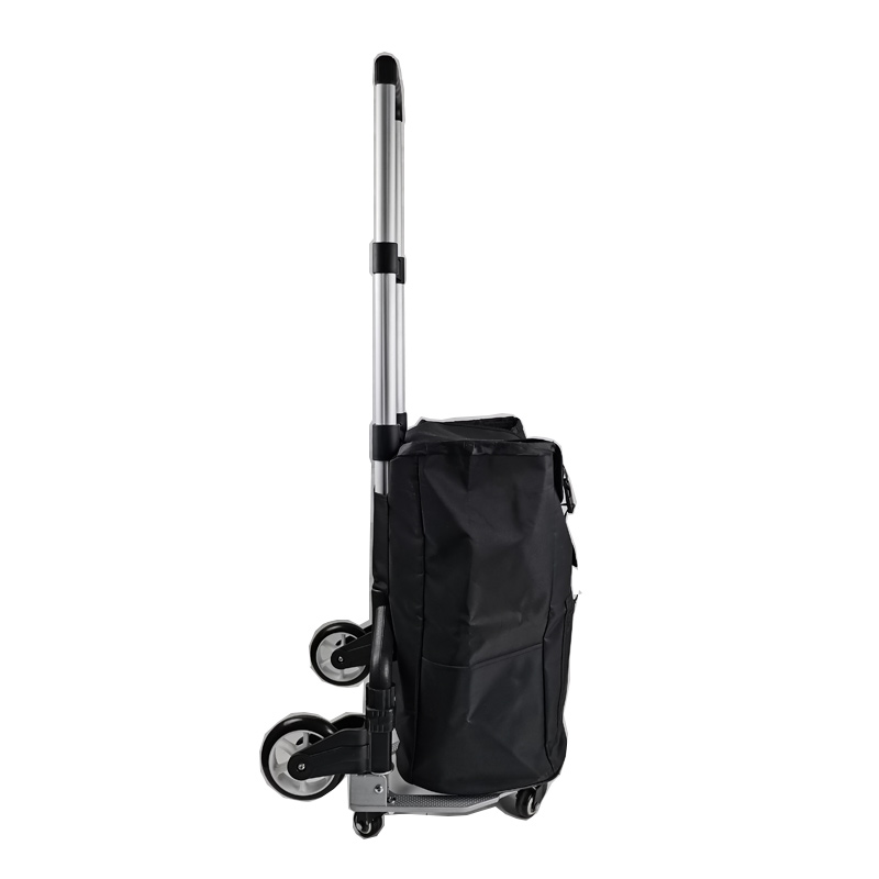 Stair Climber Cart 132 LBS Capacity Grocery Foldable Cart with Large Shopping Bag with Adjustable Bungee Cord