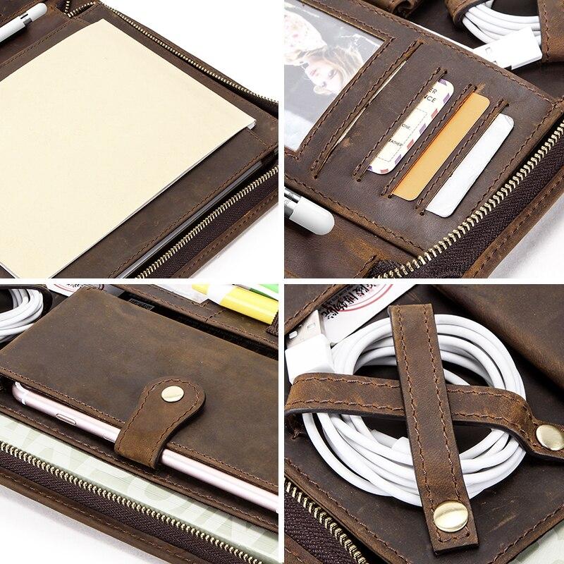 Funda de cuero Vintage para iPad Pro 10,5 Air 3 11 2019 Protector de tableta para iPad 9,7 Air 2 Soporte de diario con cremallera - 5