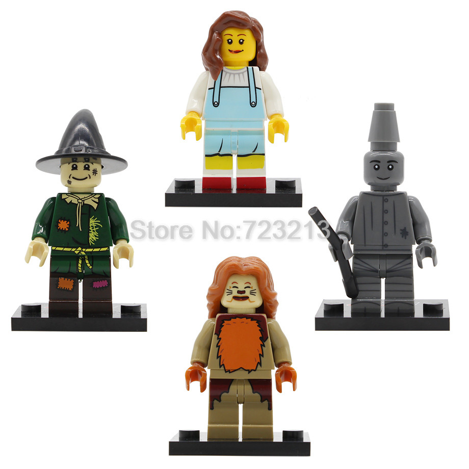 Single Sale The Wizard Of OZ Movie Figure Dorothy Gale The Tin Man Scarecrow Lion Building Block Models Bricks Kits Toys