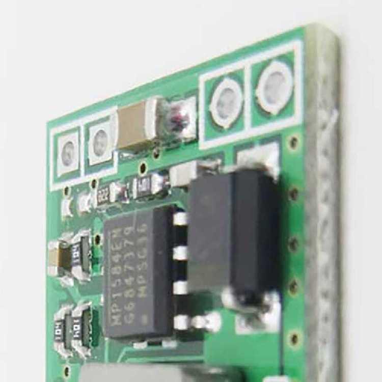 Módulo de saída descendente do step-down 24 v 12 v 9v a 5 v lm2596 módulo de potência ultra-pequeno ajustável mp1584en dc 3a