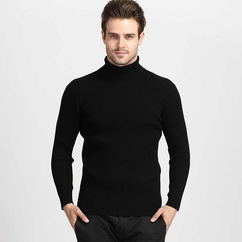 Zogaa 2019 겨울 남성 스웨터 하이넥 웜 스웨터 남성 솔리드 터틀넥 브랜드 슬림 피트 풀오버 남성 두꺼운 니트 스웨터