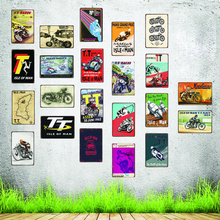 Isle Of Man TT Motorcycle Tin Signs Plaque Metal Vintage Shabby Chic  Wall The Pub Bar Shop Garage Home Decoration DU-3770A
