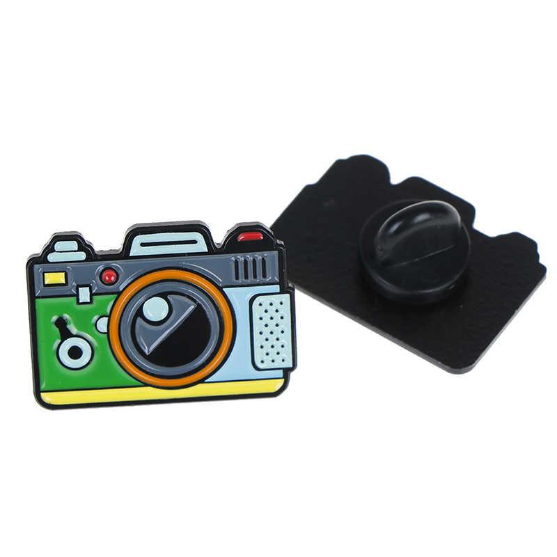 Camera Shape Brooch Lightweight Clothes Pin Badge Enamel Lapel Hat Scarf Dec/_ti
