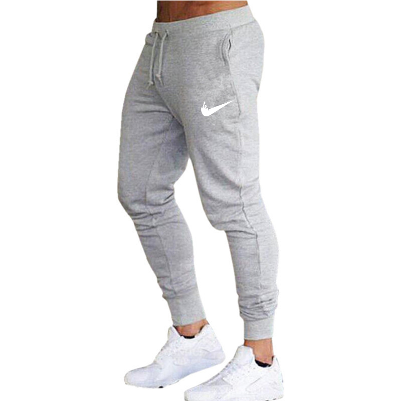 Men'S Pants New Casual Trousers  Solid Color Slim Fit Trousers Male Joggers Long Sweat Pants Side Stripe Classic Sweatpants