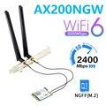Двухдиапазонный беспроводной Wi-Fi 2,4 Гбит/с 802.11AX 6 AX200 для ноутбука/настольного компьютера M.2 ngff WLAN Wi-Fi Карта Bluetooth 5,1