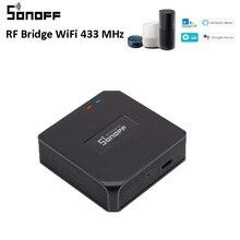 Sonoff rf brigde wifi 433mhz conversor de sinal sem fio para automação residencial inteligente funciona perfeitamente com alexa, casa do google