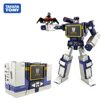 TAKARA TOMY Transformation KO MP13 CAR Metal Part 28CM SOUNDWAVE Autobots Action Figure Deformation Robot Children Gift Toys the autobots deformation toys king kong police series red alert toy ambulance to toys for children