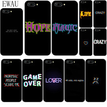EWAU Color text on a black background Silicone phone case for Huawei Honor 6A 7A Pro 7C 7X 8X 8C 8 9 Note 10 Lite view 20 9X Pro(China)