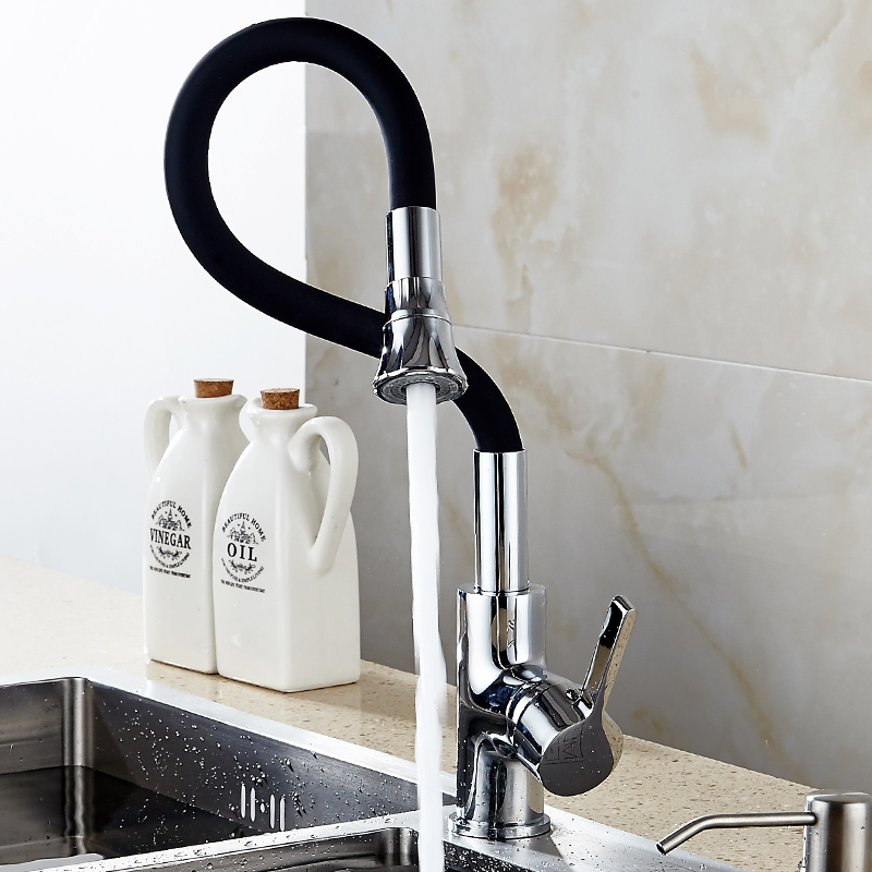 Kitchen Faucets Copper Body Dish Basin Hot And Cold Water Faucet Kitchen Can Rotate Wash Washing Pool Balcony Single Hole