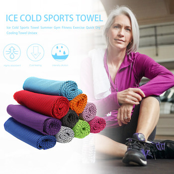 Comfortable Ice Cold Towel Gym Fitness Sports Exercise Quick Dry Cooling Towel Efficient Perspiration Evaporation for Men Women image
