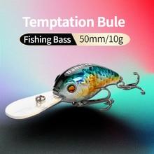 Banshee 50mm 10g  Floating Bass Fishing Lure VC04 Rattle Sound Wobbler Round Bill Artificial Hard Bait Deep Diving Crankbaits