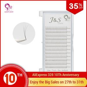Image 5 - Jeyelash Pre made fans 3D volume eyelash extensions, heat bonded lashes ,5 trays/lot J & S faux mink eyelashes