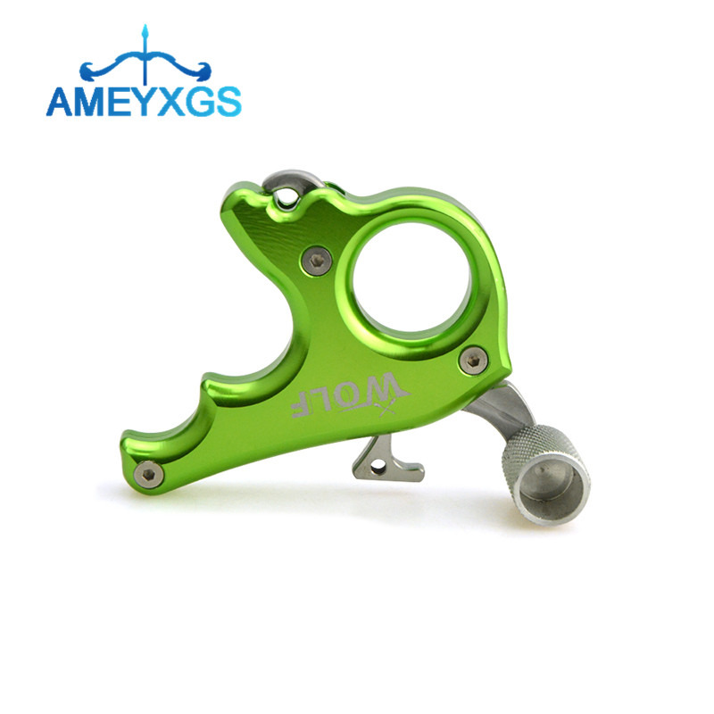 Archery 3 Finger Grip Caliper Release Aids Thumb Trigger Compound Bow Grip Tool