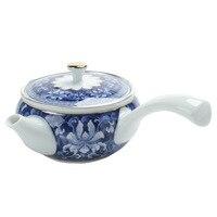 Juego de té de filtro de tetera de cerámica fresca simple para el hogar  Plata de Ley 999  azul y plata plateada Sets de juegos de té     -