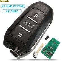 Jingyuqin Inteligente Keyless-Go PCF7945 ID46 4A HU83 VA2 433MHZ Remoto da Chave Do Carro Para Peugeot 208 308 508 3008 Citroen C4 DS4 DS5 HITAG2