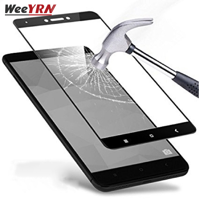 Kaca Tempered Untuk Xiaomi Redmi 4X / Redmi Note 4X (3G / 32G) Pelindung Layar Pelindung Kaca Untuk Xiomi Redmi 4X / Note4X penuh